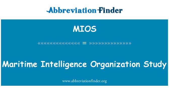 MIOS: Mereluure organisatsioon uuringu