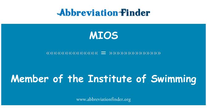 MIOS: Ujumine instituudi liige