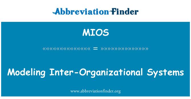 MIOS: Organisatsioonidevaheline süsteemide modelleerimine