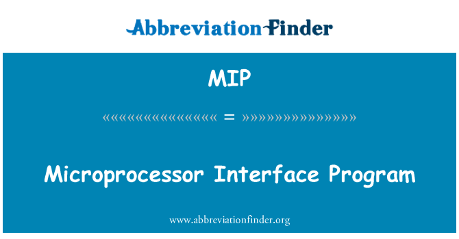 MIP: 微处理器接口程序