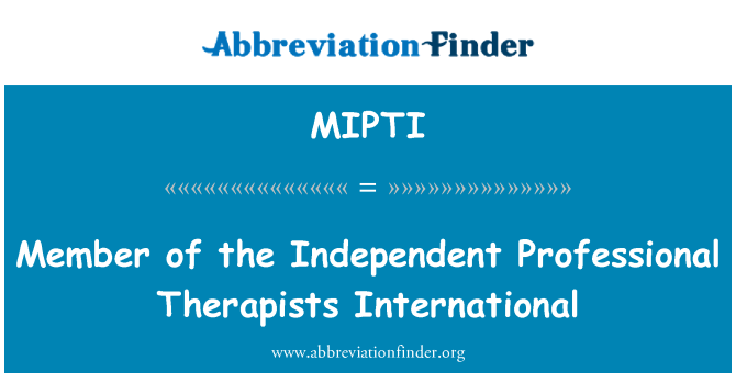 MIPTI: Member of the Independent Professional Therapists International