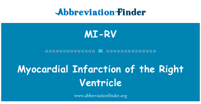 MI-RV: Myocardial Infarction of the Right Ventricle