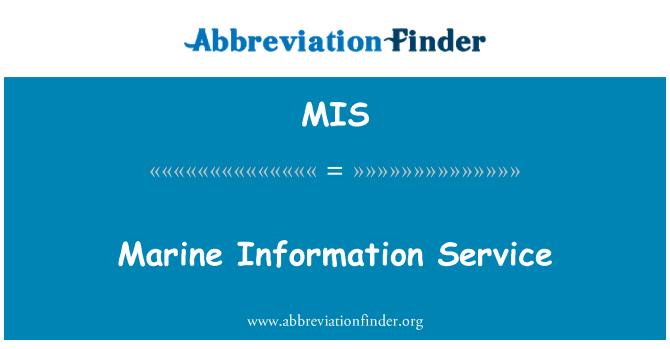MIS: Marine Information Service