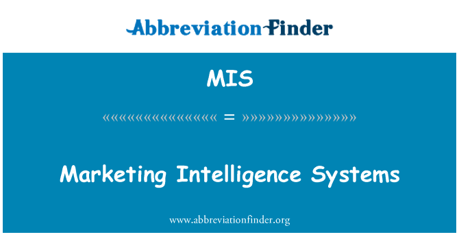 MIS: Marketing Intelligence Systems