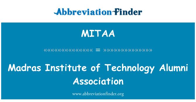 MITAA: Madras Institute of Technology Alumni Association