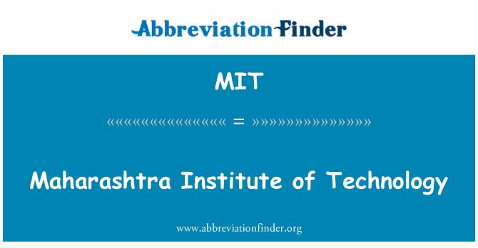 MIT: Maharashtra Institute of Technology