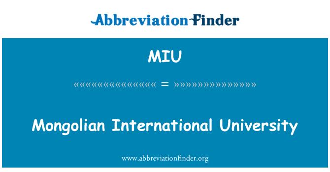 MIU: Mongolian International University
