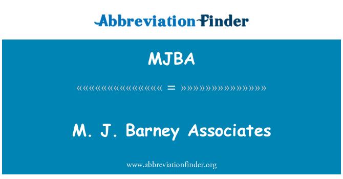 MJBA: M. J. Barney Associates