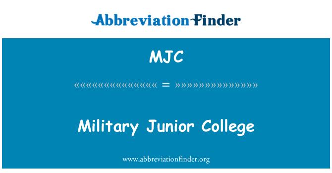 MJC: Military Junior College