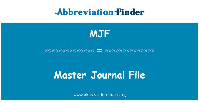 MJF: Master Journal File