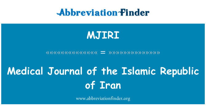MJIRI: Medical Journal of the Islamic Republic of Iran