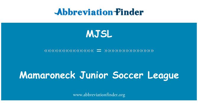 MJSL: Mamaroneck Junior Soccer League