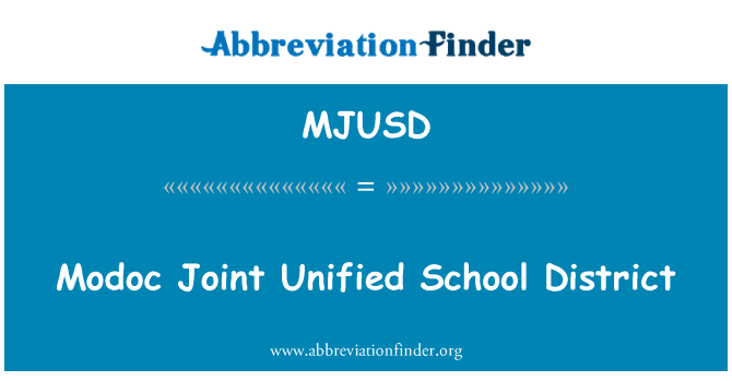 MJUSD: Modoc Joint Unified School District