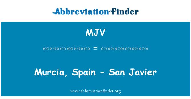 MJV: Murcia, Spain - San Javier