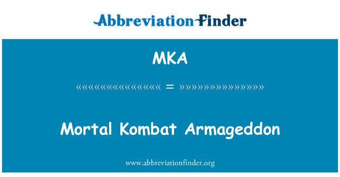 MKA: Mortal Kombat Armageddon