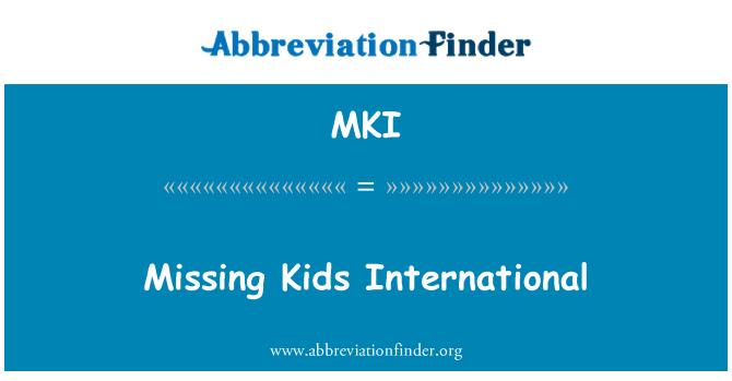 MKI: Missing Kids International