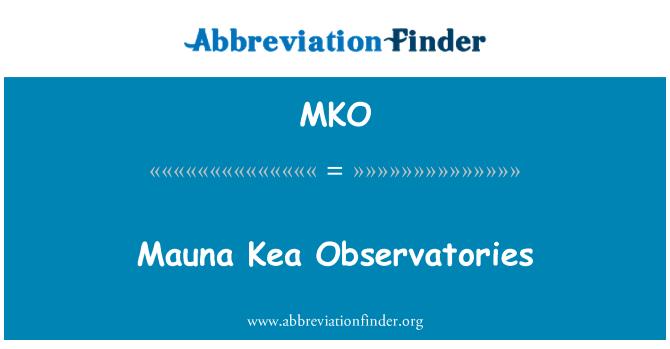 MKO: Mauna Kea Observatories