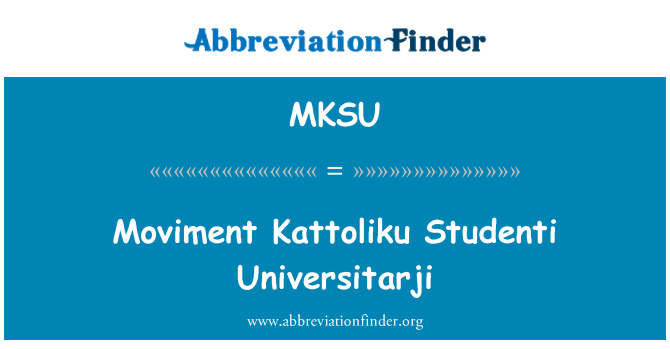 MKSU: Moviment Kattoliku Studenti Universitarji