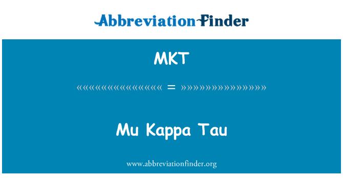 MKT: Mu Kappa Tau