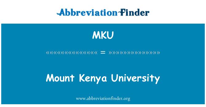 MKU: Mount Kenya University