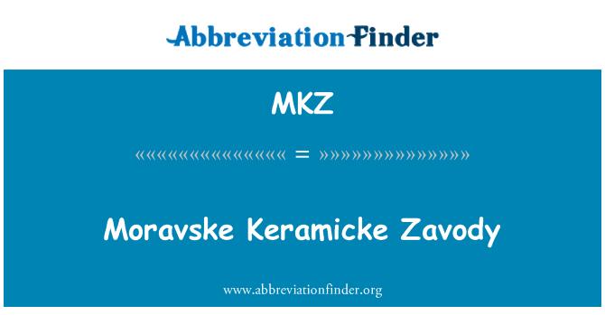 MKZ: Moravske Keramicke Zavody