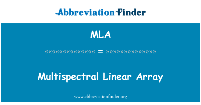 MLA: Multispectral Linear Array