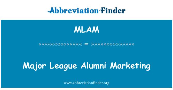 MLAM: Major League Alumni Marketing