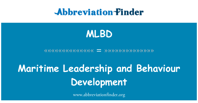 MLBD: Pomorsko vodstvo i ponašanje razvoj