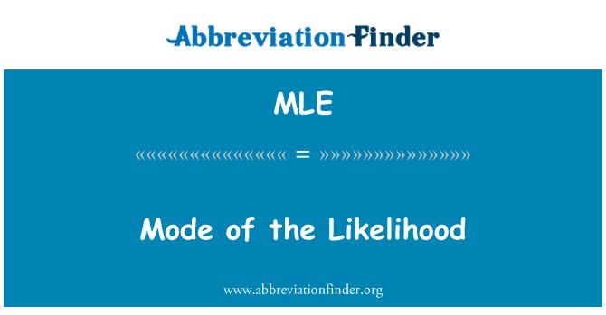 MLE: Mode of the Likelihood