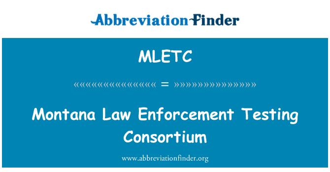MLETC: Montana Law Enforcement Testing Consortium