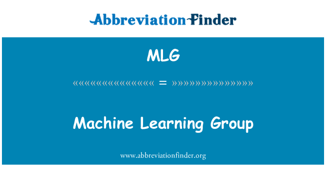 MLG: Machine Learning Group