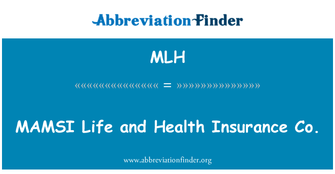 MLH: MAMSI Life and Health Insurance Co.