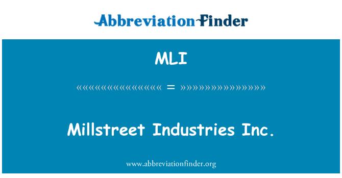 MLI: Millstreet Industries Inc.