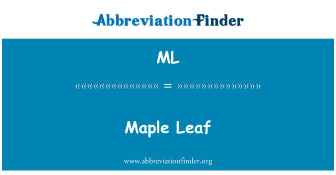ML: Maple Leaf