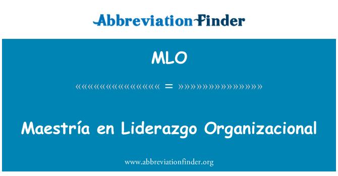 MLO: Maestría en Liderazgo Organizacional