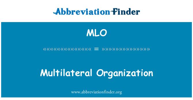 MLO: Multilateral Organization