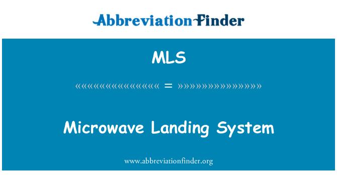 MLS: Microwave Landing System