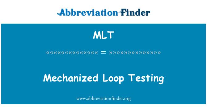 MLT: Mechanized Loop Testing