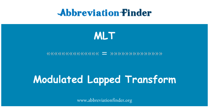 MLT: Modulated Lapped Transform