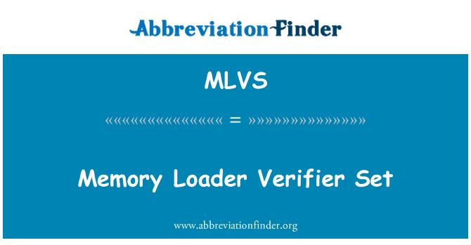 MLVS: Pamćenje Loader Verifier Set