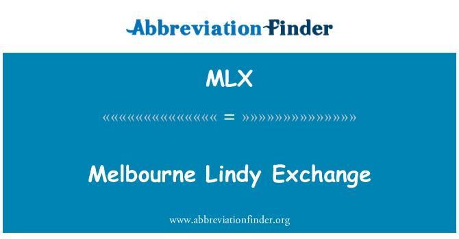 MLX: Melbourne Lindy Exchange