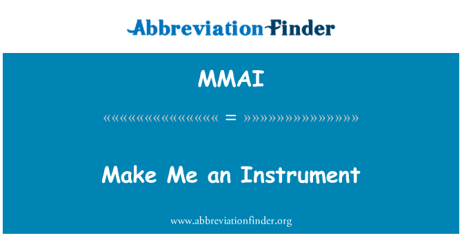 MMAI: Hazme un instrumento