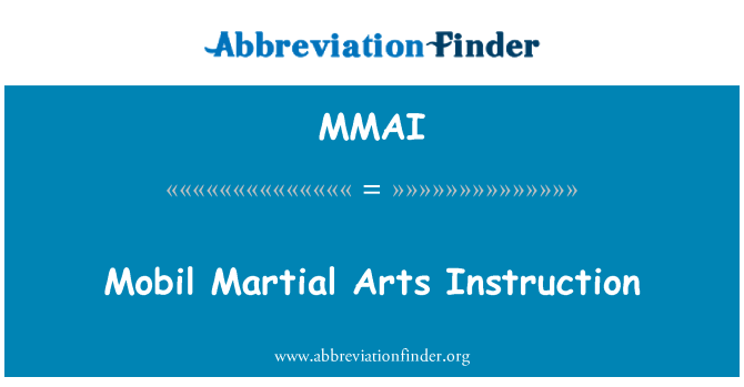 MMAI: Mobil Martial Arts Instruction