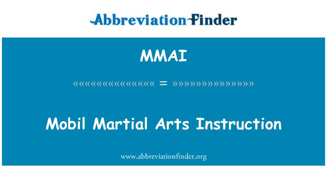 MMAI: Mobil dövüş sanatları eğitimi