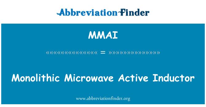 MMAI: Inductor activo de microondas monolíticos