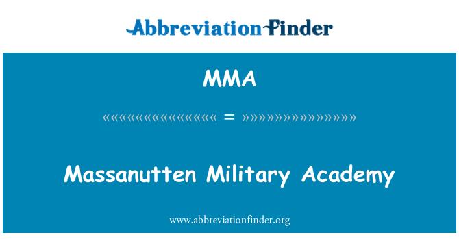 MMA: Massanutten Military Academy