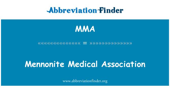 MMA: Mennonite Medical Association