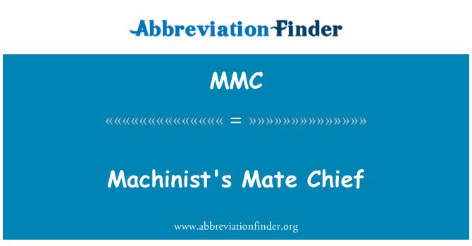 MMC: Machinist's Mate Chief