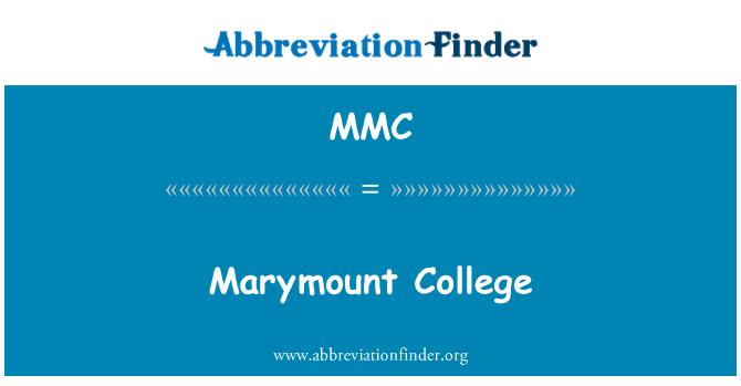 MMC: Marymount College
