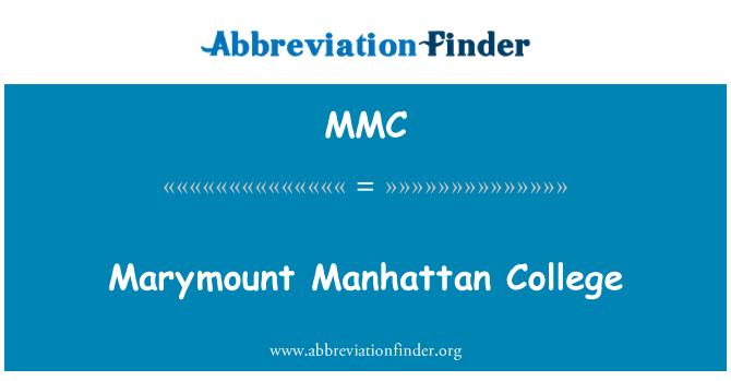MMC: Marymount Manhattan College